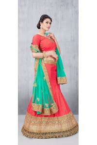 Party Wear Tomatto Red Lehenga 133