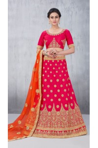 Party Wear Tomatto Red Lehenga 154