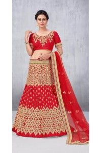 Party Wear Tomatto Red Lehenga 160