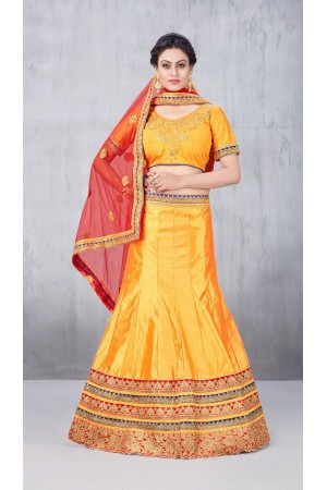Party Wear Yellow Lehenga 145