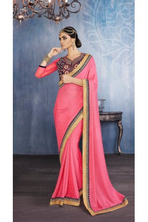 Party-wear-pink-color-saree