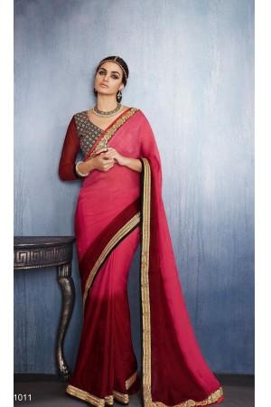 Party-wear-pink-color-saree