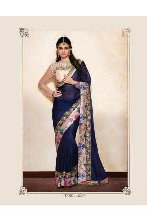Party-wear-Blue-Pink2-color-saree