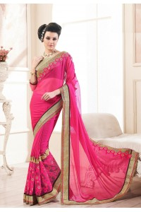 Party-wear-Pink-3-color-saree