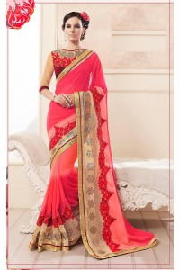Party-wear-Tomato-Red2-color-saree