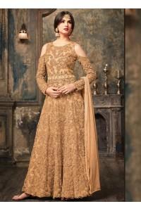 Sonal Chauhan Beige Anarkali Suit 5106B
