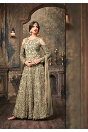 Sonal Chauhan Grey Anarkali Suit 5106C
