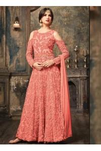 Sonal Chauhan Peach Anarkali Suit 5106A