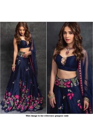 Bollywood model blue banglori silk lehenga choli