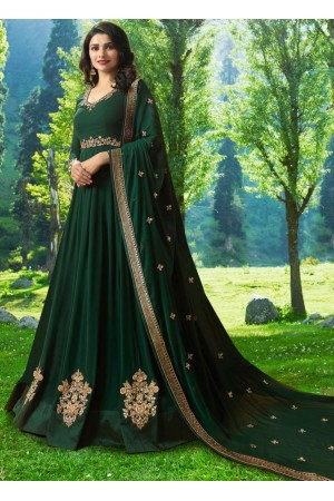 Bollywood Prachi Desai Green Georgette Indian wedding anarkali 8077