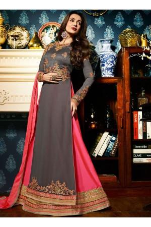 Malaika Arora khan georgette Grey color wedding Lehenga kameez