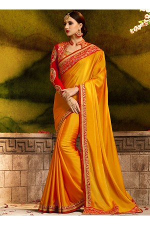 Epitome fancy fabric embroidered work classic party saree 1163