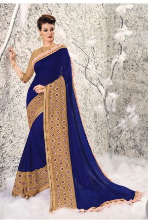 Party-wear-Blue-4-color-saree