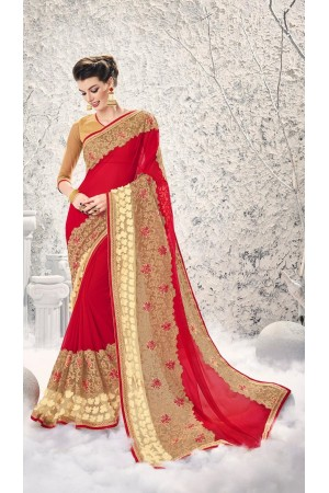 Party-wear-Red-8-color-saree