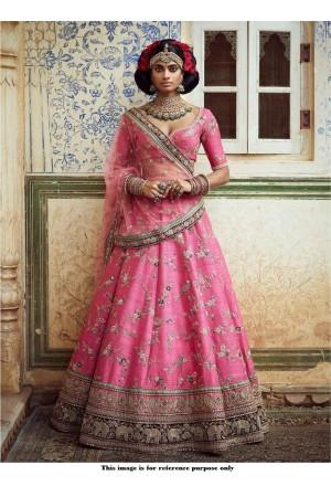 Bollywood Sabyasachi Inspired Lotus pink banarasi lehenga choli