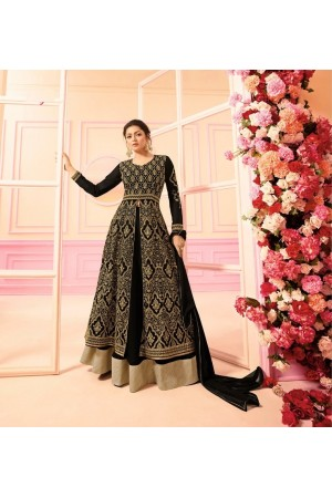 Drashti Dhami Black georgette Indian wedding Ghagra 2210