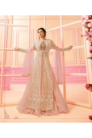 Drashti Dhami Peach net Indian wedding Ghagra 2203