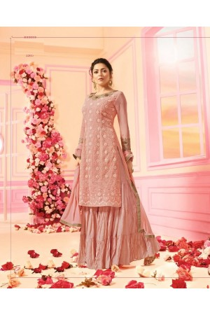 Drashti Dhami Pink georgette wedding Sharara 2205