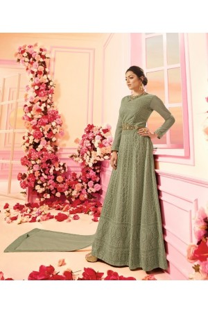 Drashti Dhami green georgette wedding anarkali 2204