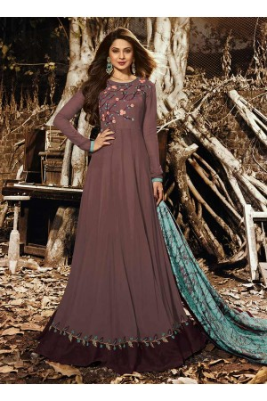 Jennifer Winget Brown Indian wedding anarkali 1130