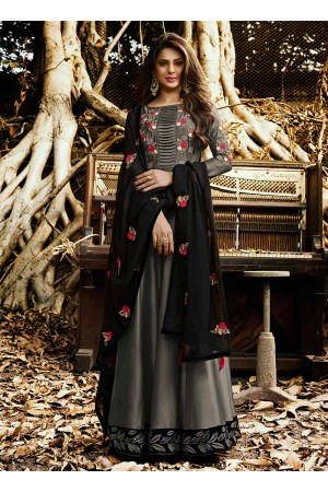 Jennifer Winget Grey Indian wedding anarkali 1129