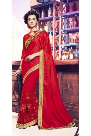 Party-wear-dark-red-color-11-saree