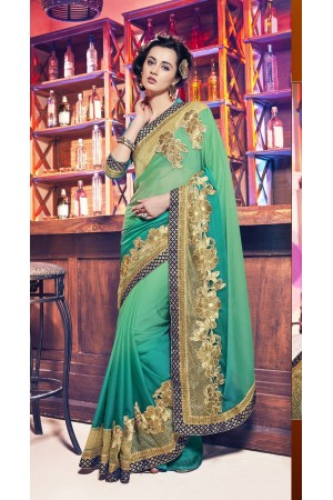 Party-wear-mild-green-color-saree