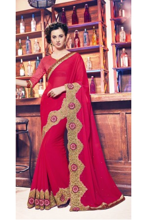 Party-wear-red-11-color-saree