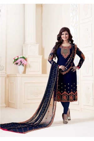 Ayesha Takia Blue straight cut Indian churidar suit 32005