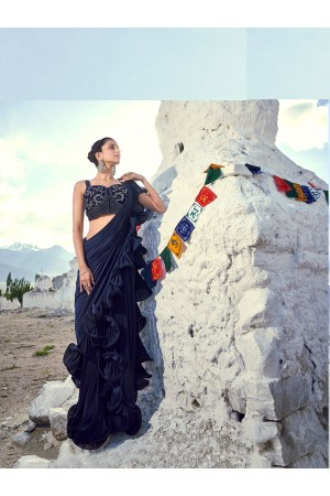 Indian ruffle party wear saree