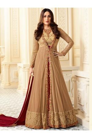 Kareena Kapoor brown georgette straight cut salwar kameez