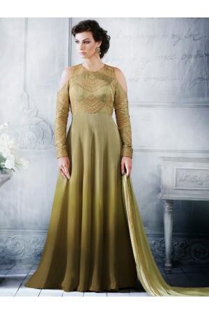 Pista green color handloom silk wedding wear salwar kameez