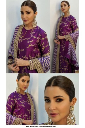 Bollywood Sabyasachi Inspired Anushka sharma Purple suit