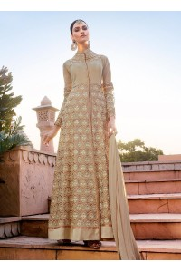 Beige georgette party wear anarkali suit 11008