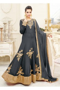 Black georgette party wear anarkali 9113