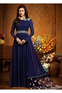 Blue georgette party wear anarkali 2485