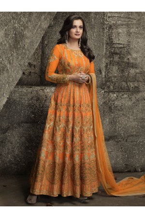 Dia mirza mulberrysilk party wear anarkali 1001