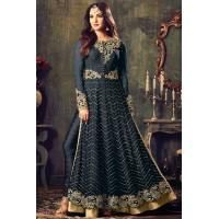 Sonal chauhan Black color net party wear anarkali suit 4707C
