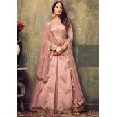 Sonal chauhan pink net rangoli party wear pant suit 4701