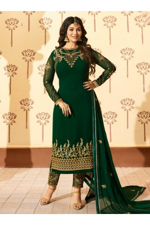 Ayesha Takia Green georgette straight cut Indian wedding pant style suit 228