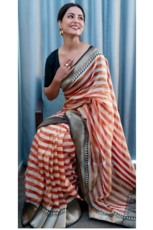 Bollywood Hina Khan Banaras Handloom Silk saree