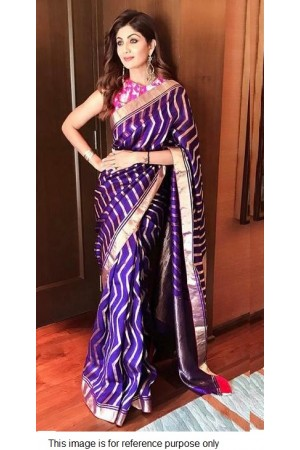 Bollywood Shilpa Shetty Inspired Pure handloom silk saree