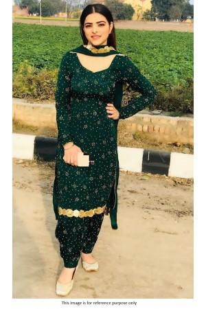 Bollywood model Emerald green salwar kameez