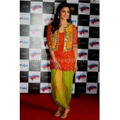 Alia bhatt Jacket style mirror work patiala suit