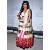 Shilpa shetty White Anarkali