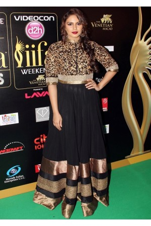 Huma qureshi black anarkali