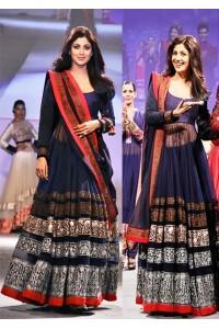 Shilpa shetty blue Anarkali