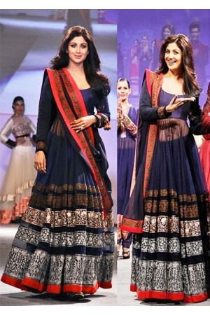 Shilpa shetty blue Anarkali
