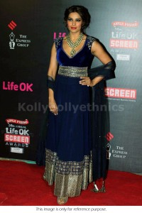 Bipasha basu velvet navy blue Bollywood Anarakali