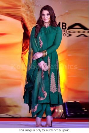 Aishwarya Rai cyan colour Bollywood Anarakali